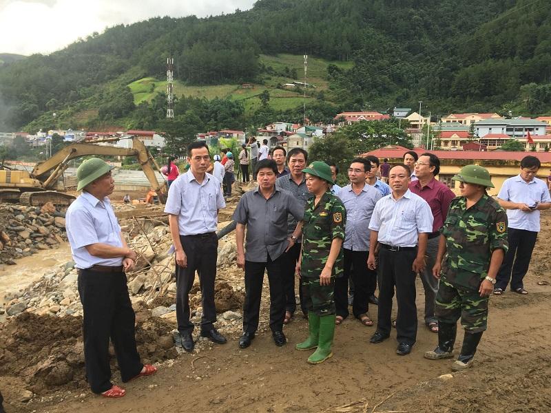 Đoàn công tác của Bộ Nông nghiệp và Phát triển nông thôn khắc phục hậu quả thiên tai tại huyện Mù Cang Chải, Yên Bái