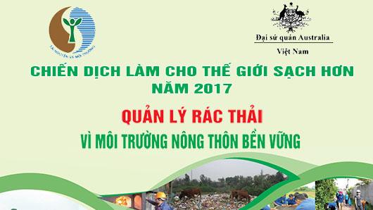 Lễ phát động quốc gia Chiến dịch làm cho thế giới sạch hơn năm 2017 sẽ được tổ chức tại tỉnh Hòa Bình